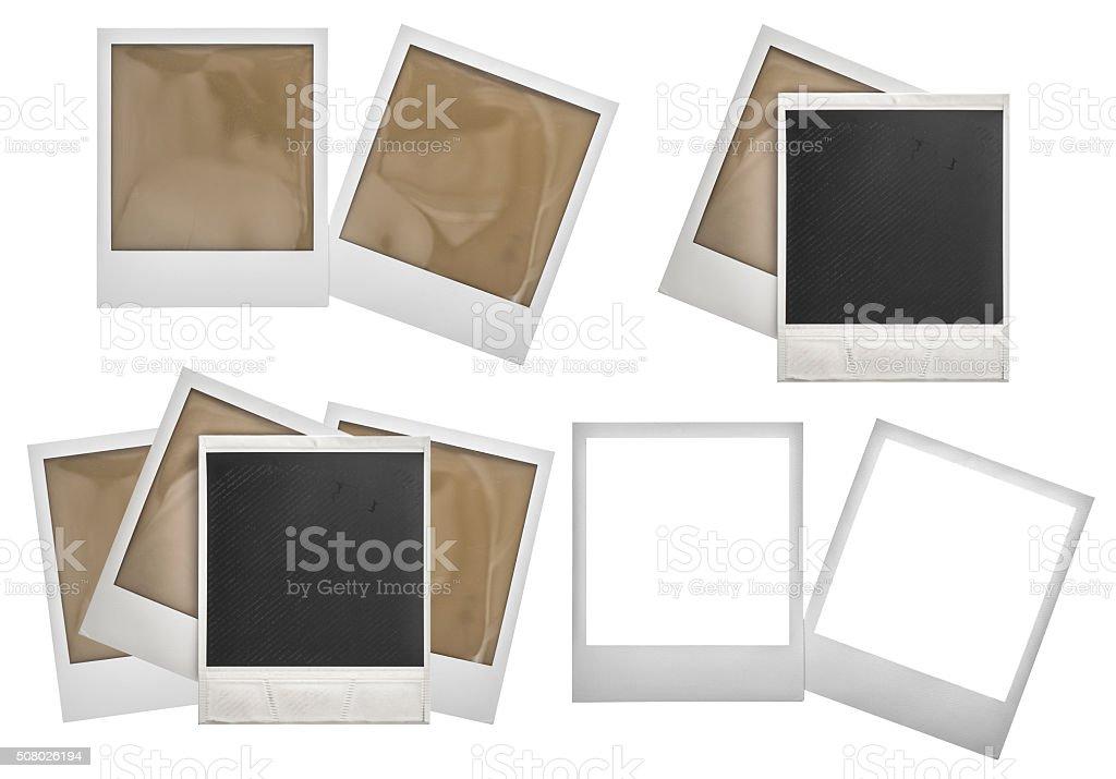 Photo frames polaroid isolated on white stock photo