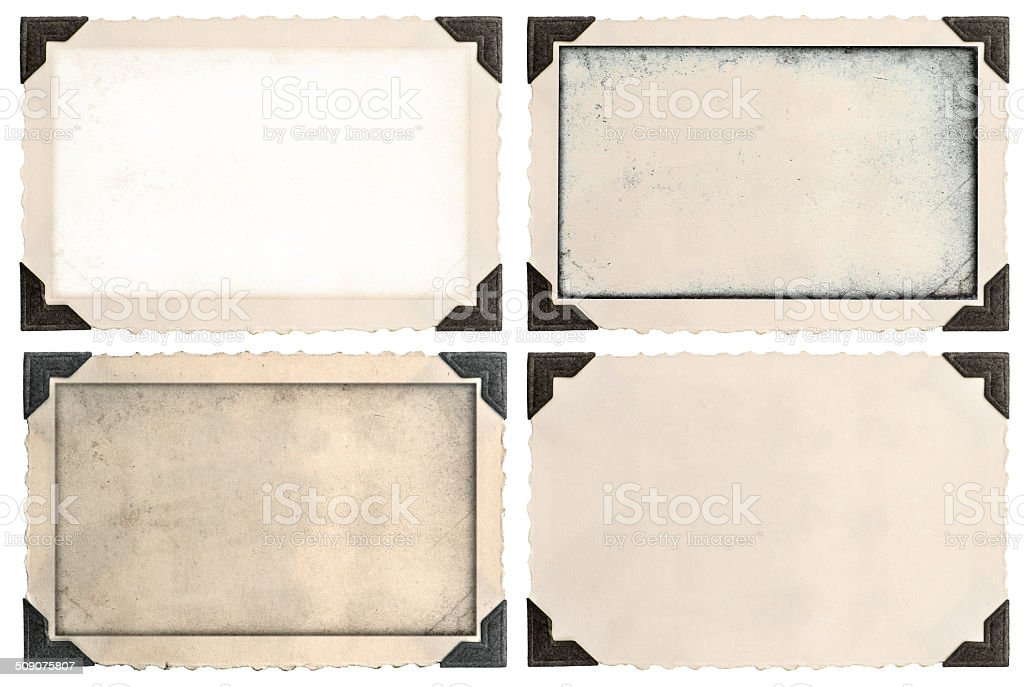 photo frames with corner and empty field stock photo