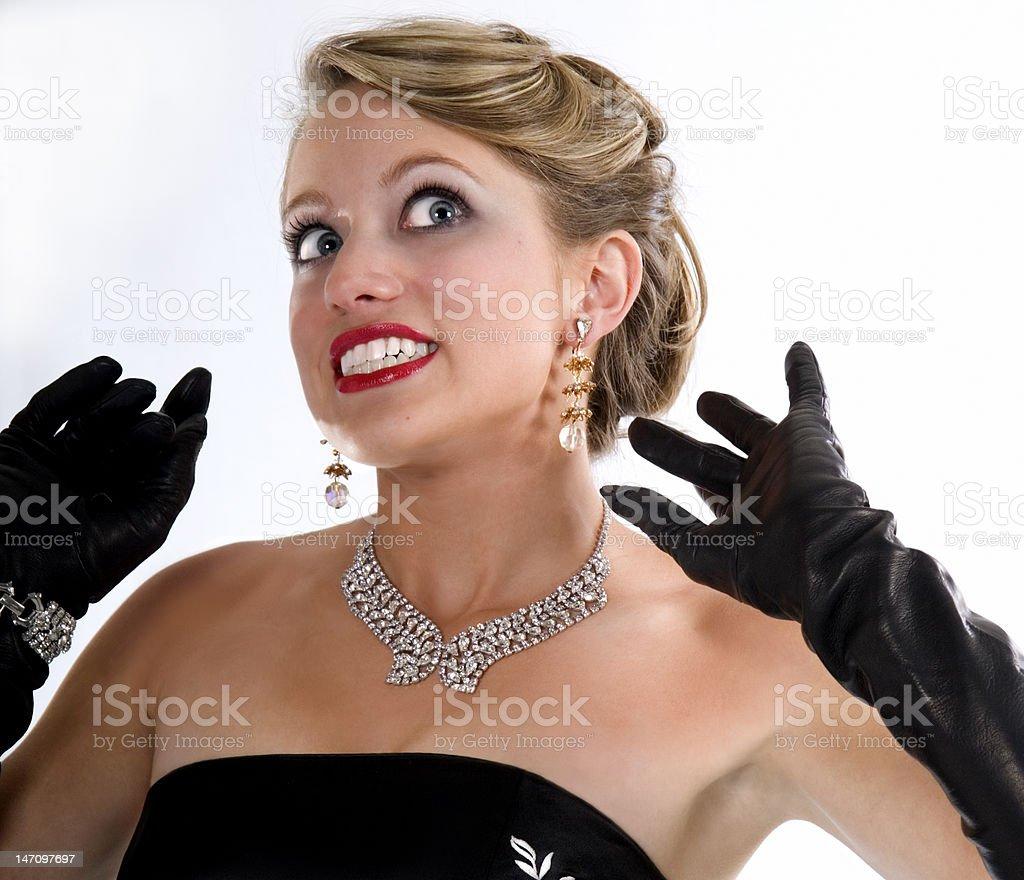 Photo Glamour Girl Million Dollar Smile Pinup Prom Dress Stock Photo ...