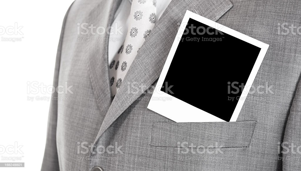 photo in a jacket royalty-free stock photo
