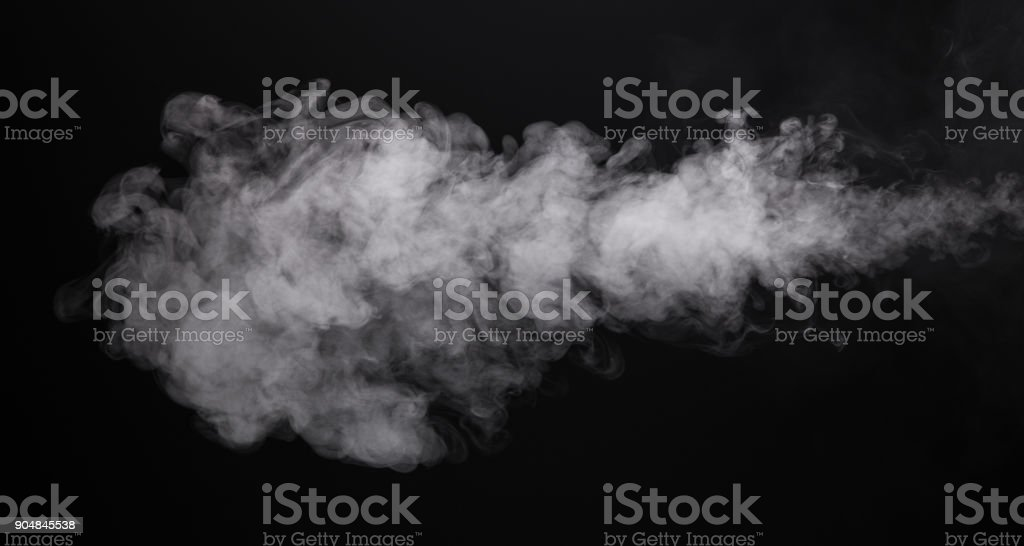 Humo foto aislado del cigarrillo electrónico - foto de stock