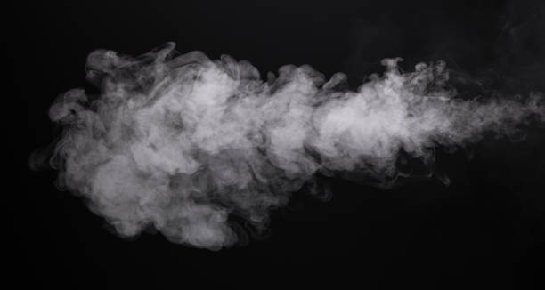 photo isolated smoke of e-cigarette - black background stock pictures, royalty-free photos & images