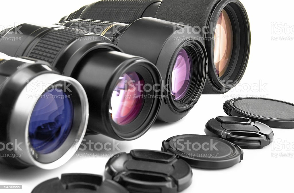 Photo lenses stock photo