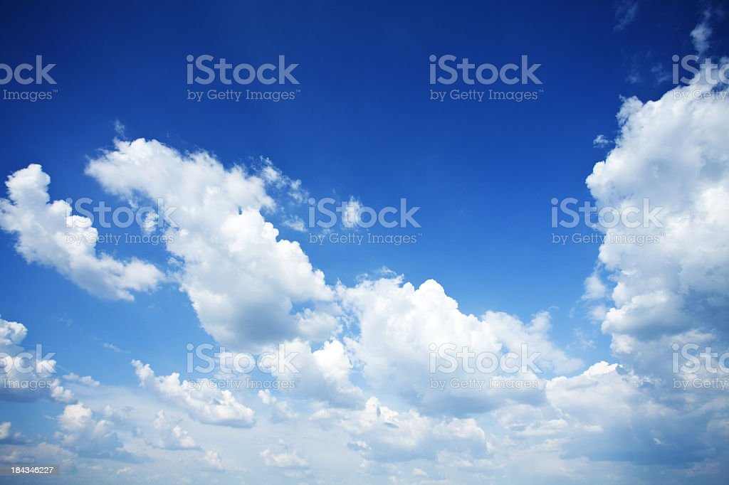 Photo of a cloudy blue sky scene royalty-free stock photo