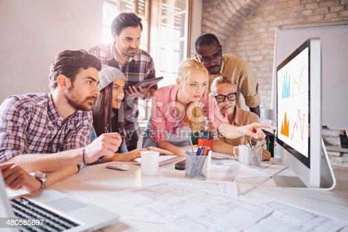 istock Photo of a designer team working on a project 480585697