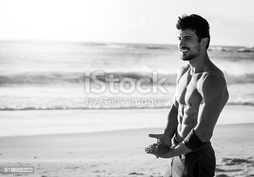 519676858istockphoto photo of a fit man enjoying the break after workout 519665322