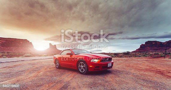 istock Photo of a Ford Mustang Convertible 2012 version 540219402