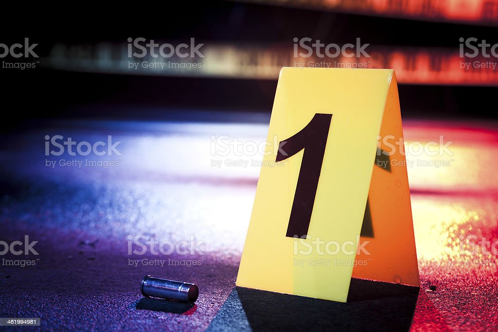 photo of a fresh crime scene stock photo