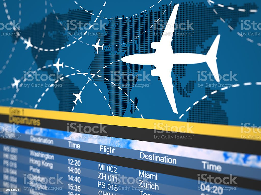 Photo of a generic airline schedule stock photo