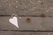 istock Photo of a heart shape on wooden 537837688