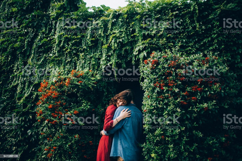 Photo of a lovely couple resting in Paris stock photo