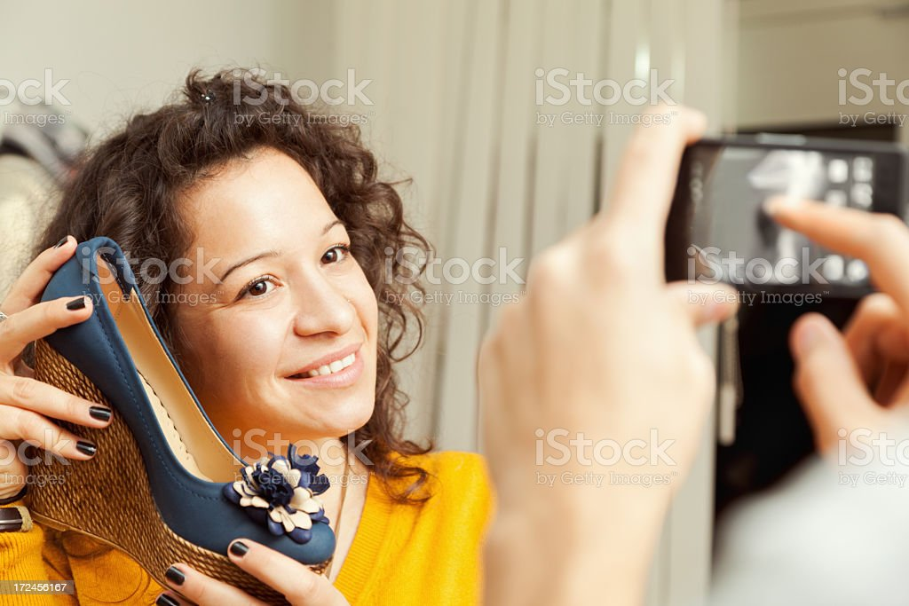 Photo of a new shoes royalty-free stock photo
