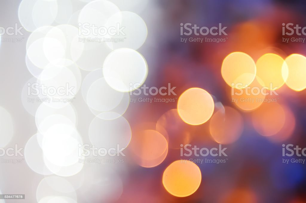 Photo of a New Year's garland abstract sparks. stock photo