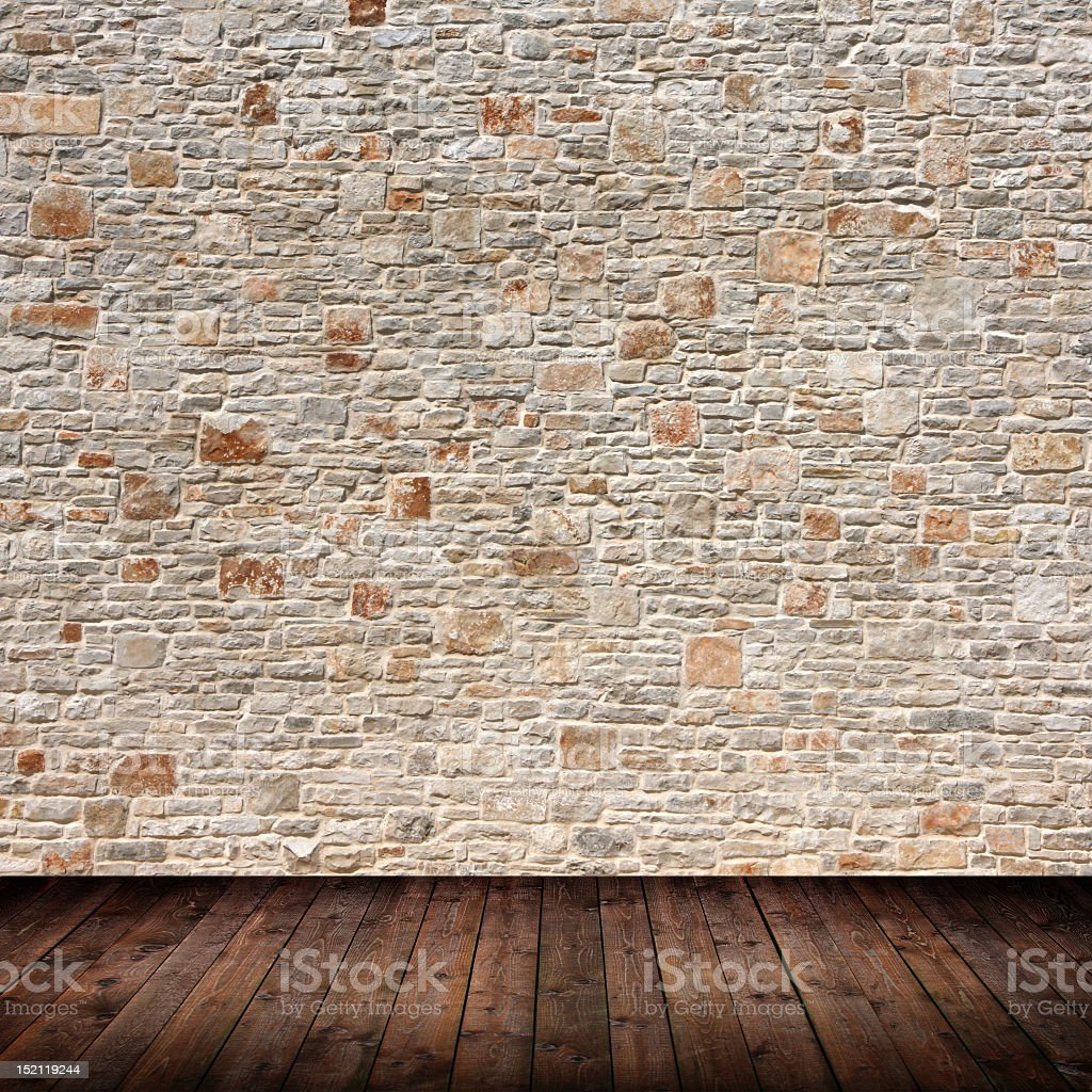 Photo of a patterned wall of an interior room stock photo