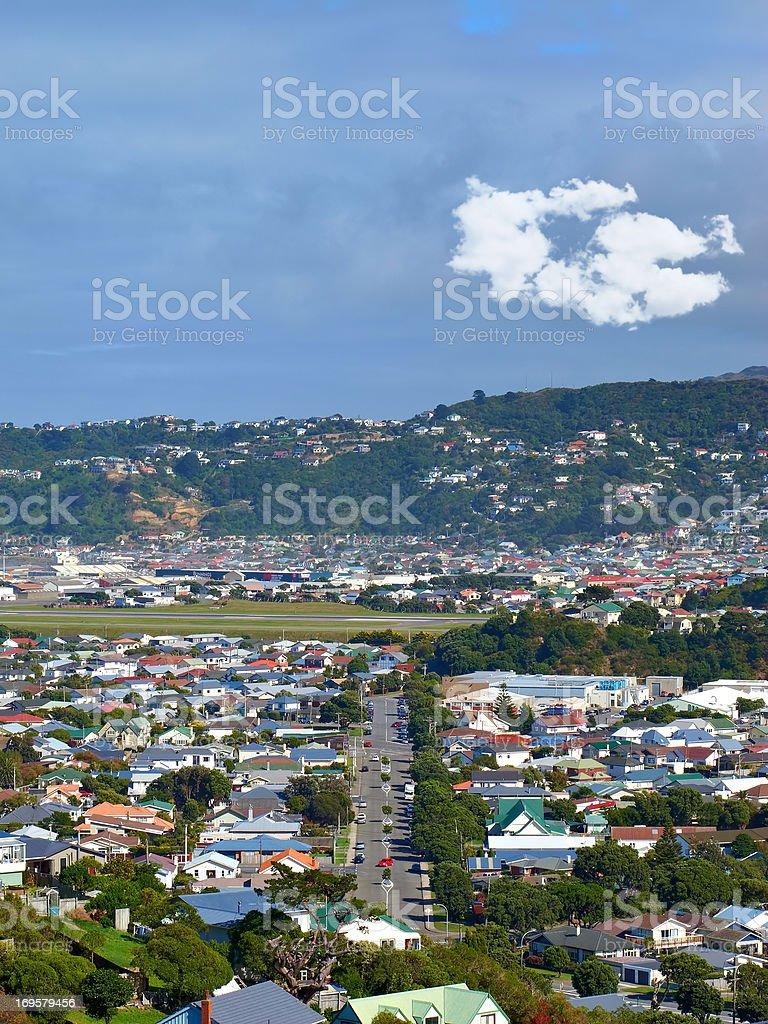 A  photo of a Wellington city on North Island, New Zealand. royalty-free stock photo