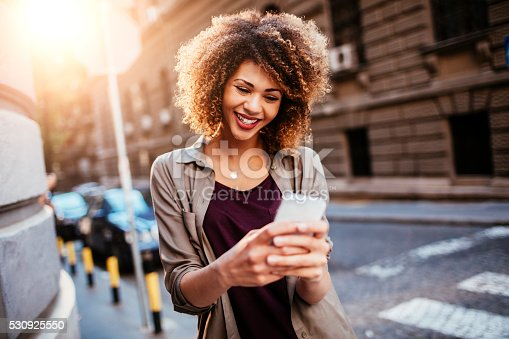 531536422istockphoto Photo of a woman using smart phone 530925550