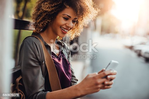 531536422istockphoto Photo of a woman using smart phone 530926076