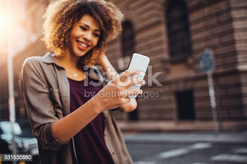 531536422istockphoto Photo of a woman using smart phone 531535880