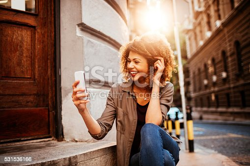 531536422istockphoto Photo of a woman using smart phone 531536166