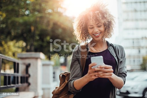 531536422istockphoto Photo of a woman using smart phone 531628664