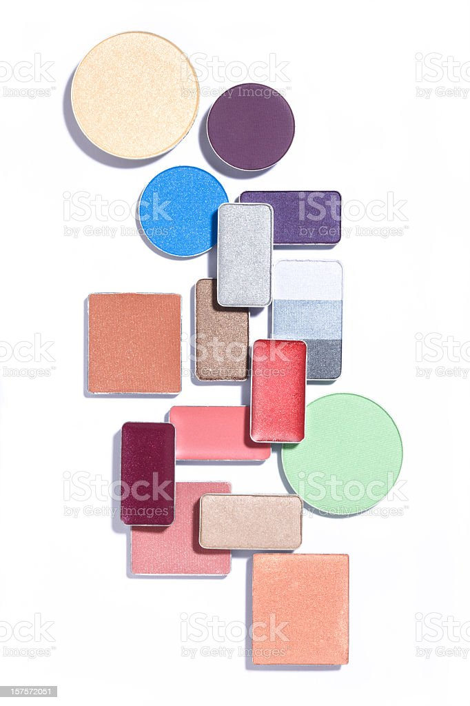 Photo of an abstract arrangement of cosmetics on white royalty-free stock photo