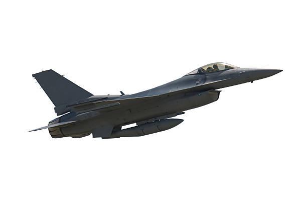 f - 16 falcon - exhaust white background imagens e fotografias de stock