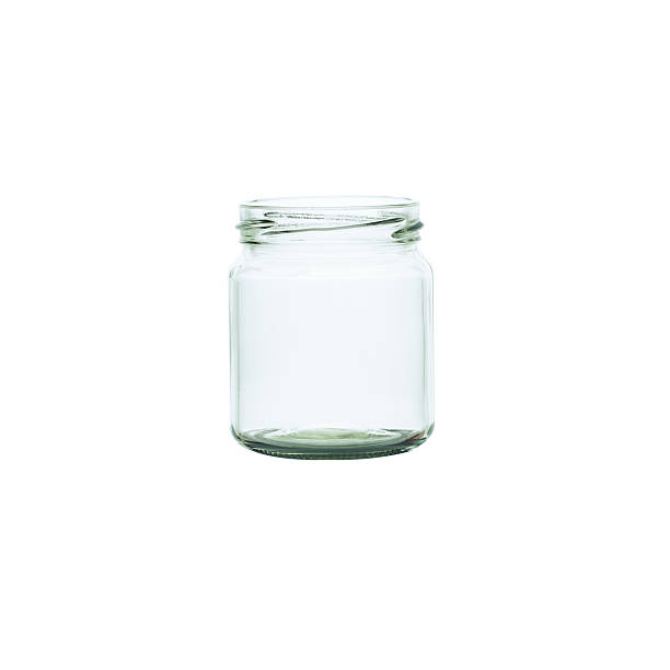 Photo of an Empty glass jar isolated on white - Photo