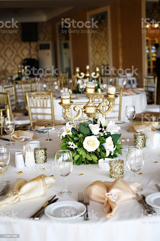 Photo of an empty wedding ceremony royalty-free stock photo