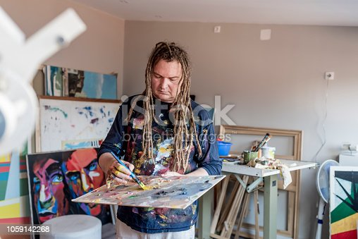 istock Photo of Artist working 1059142268