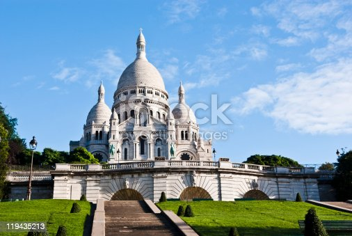 The Basilica of Sacre Coeur in Montmartre, Paris. Converted from RAW