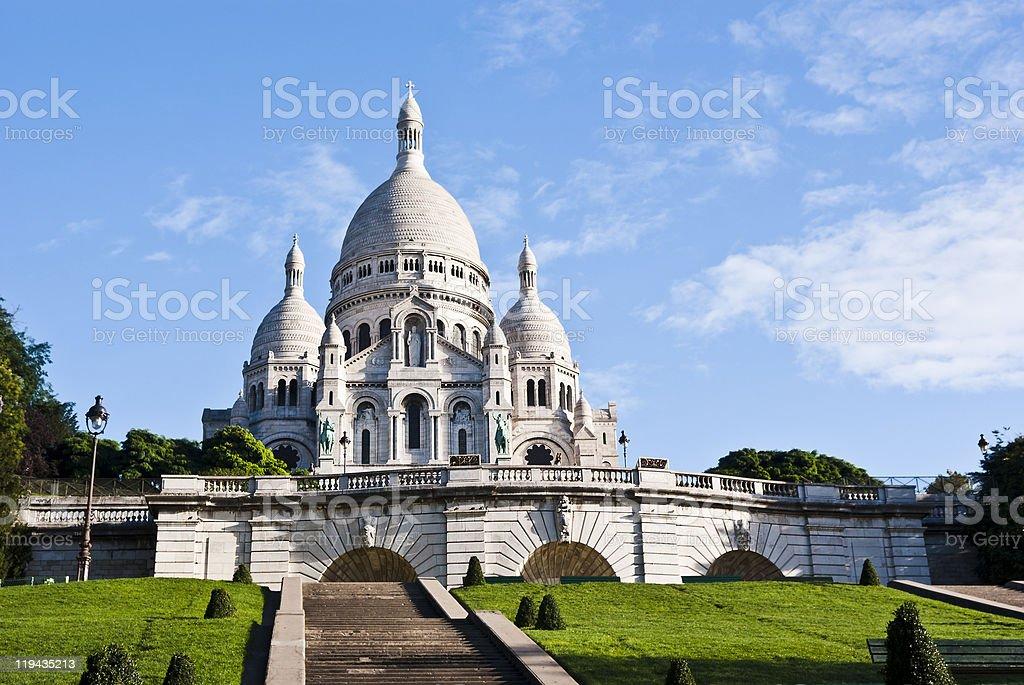 Photo of Basilica of Sacre Coeur in Paris stock photo
