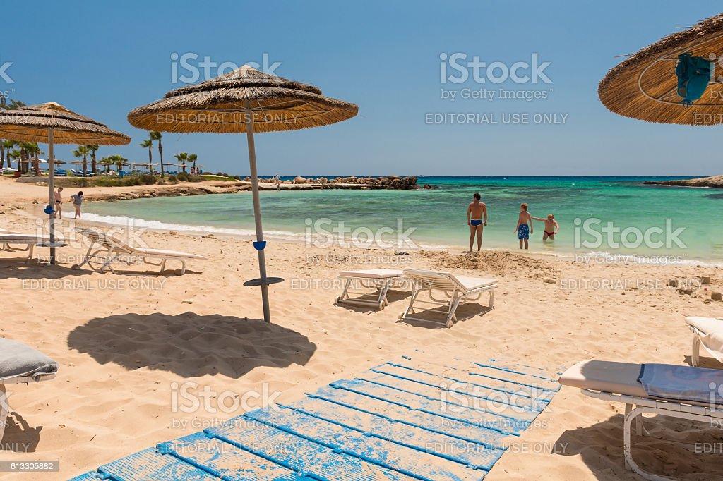 Photo of beach. Aya Napa. Cyprus. stock photo
