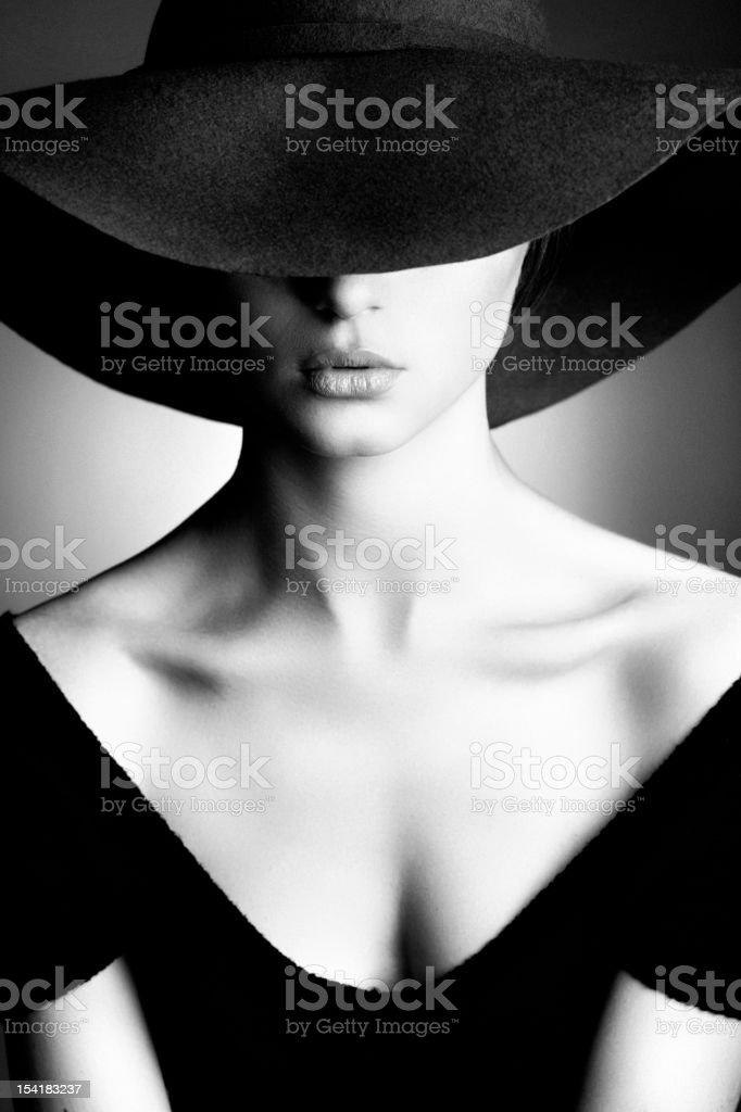 Photo of beautiful woman in retro style stock photo
