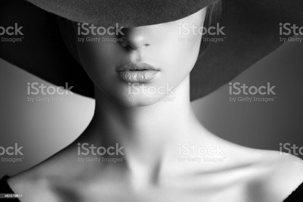 Photo of beautiful woman in retro style royalty-free stock photo