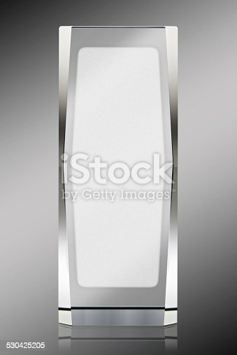 istock Photo of blank glass plate with clipping path 530425205