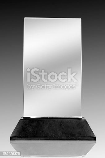 istock Photo of blank glass plate with clipping path 530429375