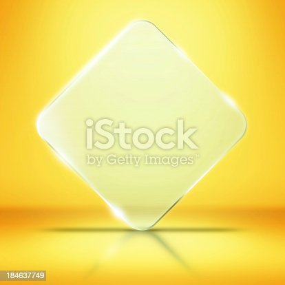 153984410 istock photo Photo of blank glass plate with copy space 184637749