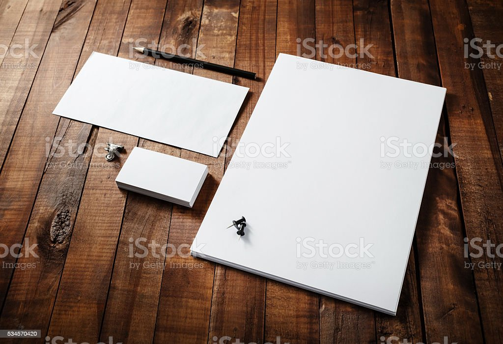 Photo of blank stationery stock photo