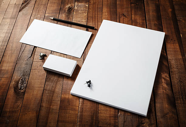 photo of blank stationery - stationary stock photos and pictures