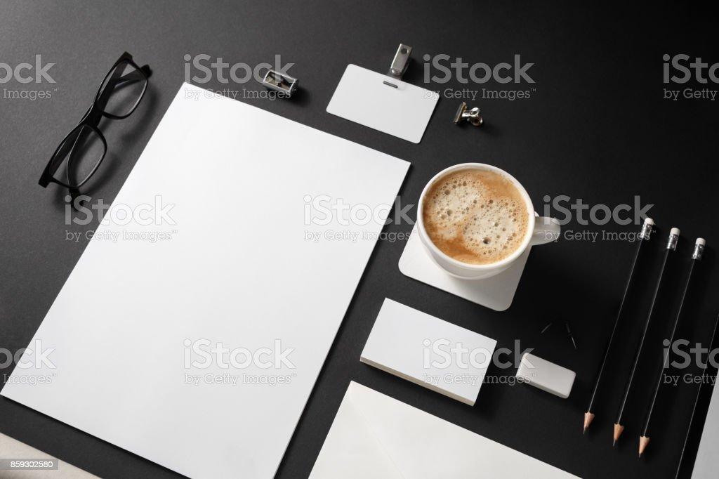 Photo of blank stationery stock photo