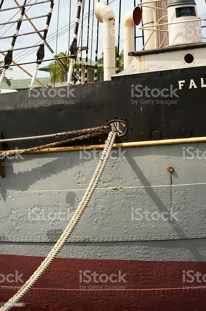 A photo of boats etc. in a Danish harbor royalty-free stock photo