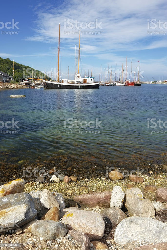 A photo of boats in summertime - Denmark royalty-free stock photo