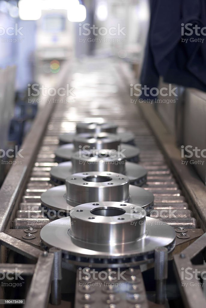 Photo of brake disks manufacturing industry stock photo