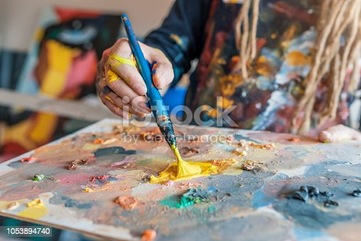 937983086 istock photo Photo of brush and palette. 1053894740