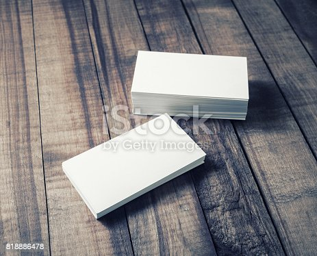 istock Photo of business cards 818886478
