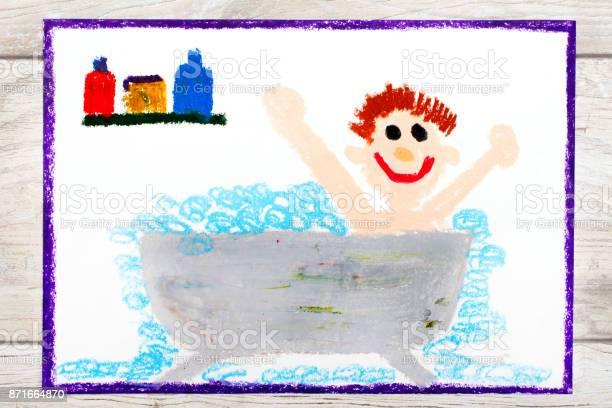 Photo of colorful drawing boy in the bathtub picture id871664870?b=1&k=6&m=871664870&s=612x612&h=suxeu5tweos8lvrgknkarqbuj6lhmmurgmq61bolbxk=