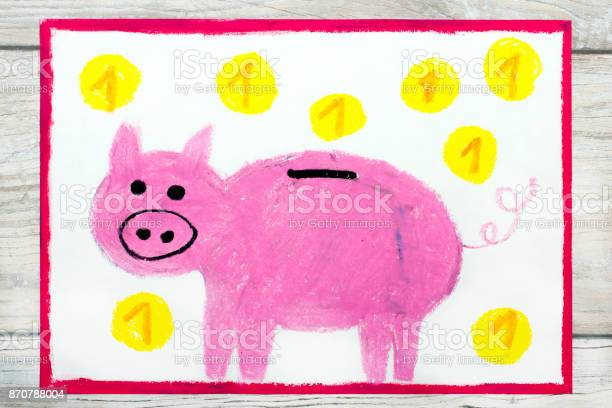 Photo of colorful drawing pink piggy bank and coins picture id870788004?b=1&k=6&m=870788004&s=612x612&h=j5faplhsev0sfw2mmtrczdoskrdqmhsvx89bdqyeuak=
