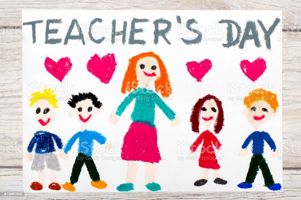 Photo Of Colorful Drawing Words Teachers Day Teacher And