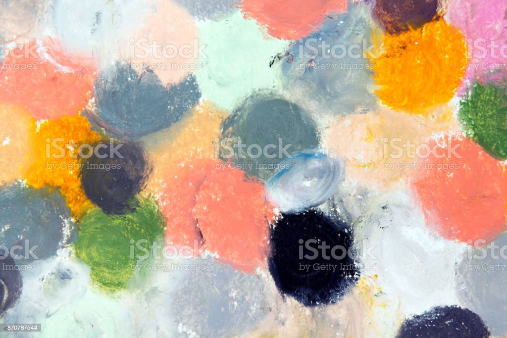 Photo Of Colorful Oil Pastels Drawing Texture For Background Stock Photo Download Image Now