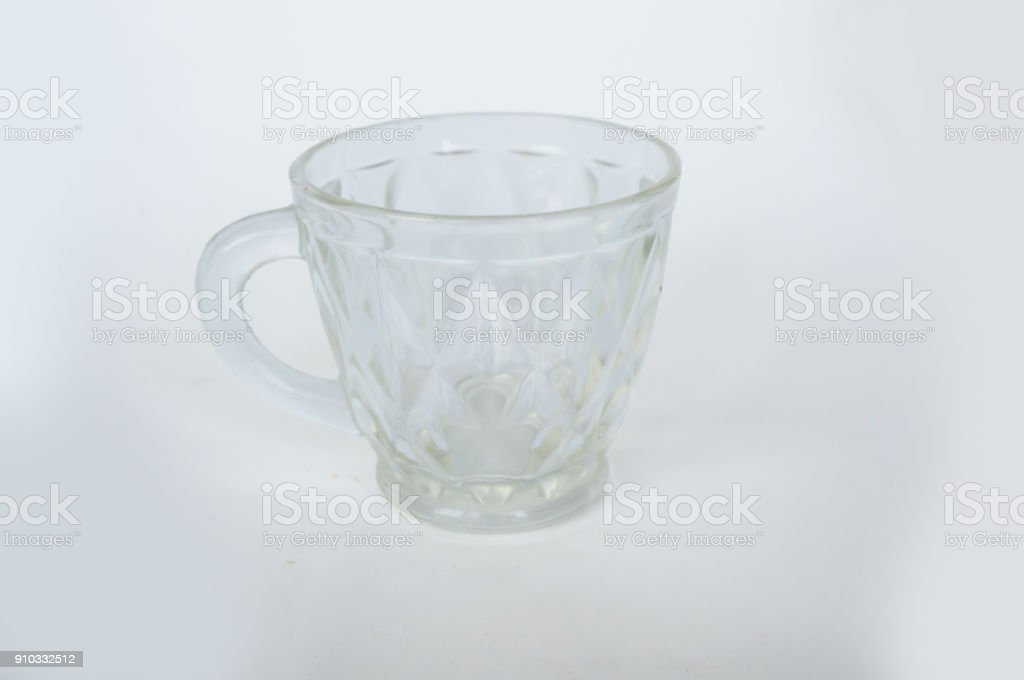 A photo of crystal cup, closeup stock photo